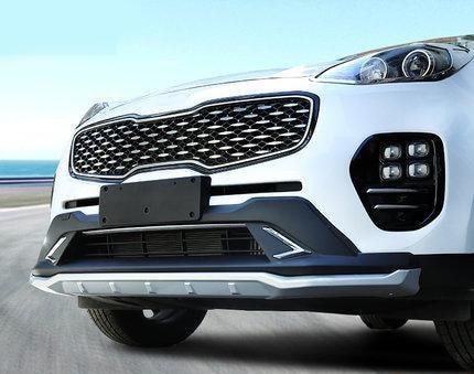 Стайлинга автомобилей ABS передний + задний объемный бампер декоративная накладка (высокая и низкая конфигурация) для 2016-17 новый КИА Спортейдж KX5