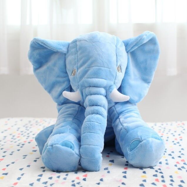 Soft Baby Elephant Pillow Children Sleep Pillow Baby Crib Baby Bedding Pillows Foldable Kids Doll Seat Cushion Children Toy soft u shape cushion journey from watermelon kiwifruit orange fruit cushions tourism neck pillow autotravel pillows new hot