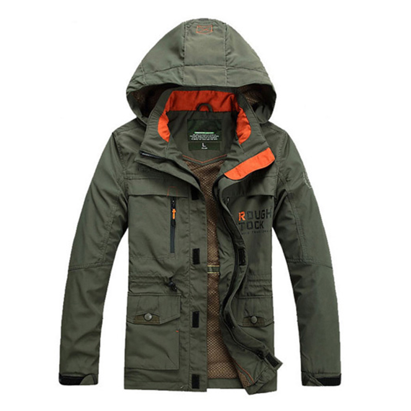 Men's Spring Autumn Coat Outdoor Jackets Male Hoodie Hiking Camping Trekking Climbing Man Plus size oversized outwear