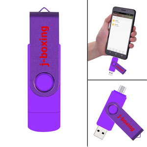 Image 5 - สีม่วงUSBแฟลชไดรฟ์OTGความเร็วสูงไดรฟ์หน่วยความจำ64GB 32GB 16GB 8GB Dual Micro USB StickสำหรับAndroid/แท็บเล็ต/PC/Mac