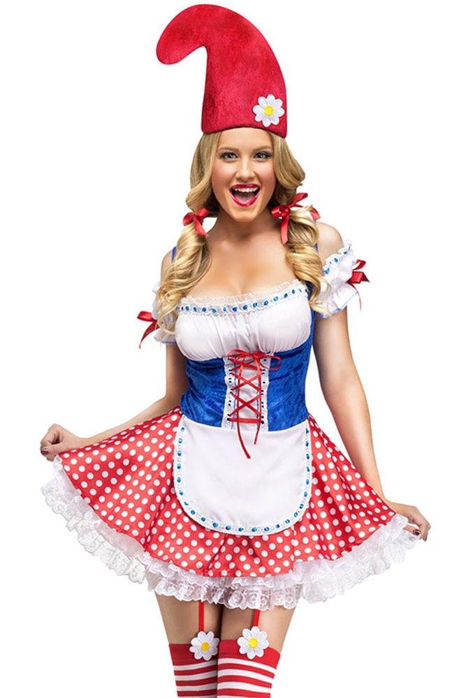 Gnome In Garden: 2pcs Lolita Women French Maid Dress Cosplay Halloween