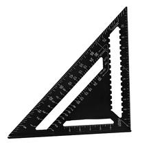 Black 300mm Aluminum Alloy Speed Square Rafter Triangle Angle Square Layout Guide Woodworking Tool New