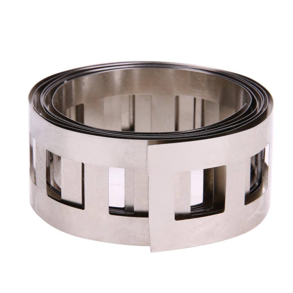 1M 0.15&#215;25.5mm Pure Ni Plate Nickel Strip Tape nickel <font><b>belt</b></font> used for <font><b>Battery</b></font> Welding DIY <font><b>Pack</b></font> Assembly <font><b>battery</b></font> holder