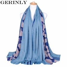 GERINLY Scarves Leopard Print Hijab Scarf New Style Fashion Ladies Long Shawl Cotton Pashmina Luxury Brand Foulard Femme 180x90