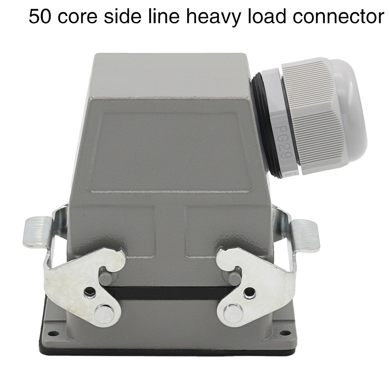 цена на heavy duty connector Rectangular 50-core hdc-hdd-050 cold-press plug industrial waterproof plug 10A