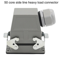 heavy duty connector Rectangular 50 core hdc hdd 050 cold press plug industrial waterproof plug 10A