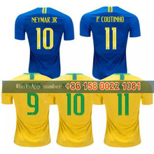 2018 world cup brazil soccer jersey 3 t.silva 10 neymar jr 10 pele 6