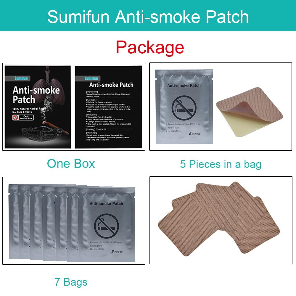 Chinesische Medizin Schönheit & Gesundheit 35 Patches Sumifun Stop Rauchen Anti Rauch Patch Für Raucherentwöhnung Patch 100% Natürliche Zutat Rauchen Aufhören Patch K01201