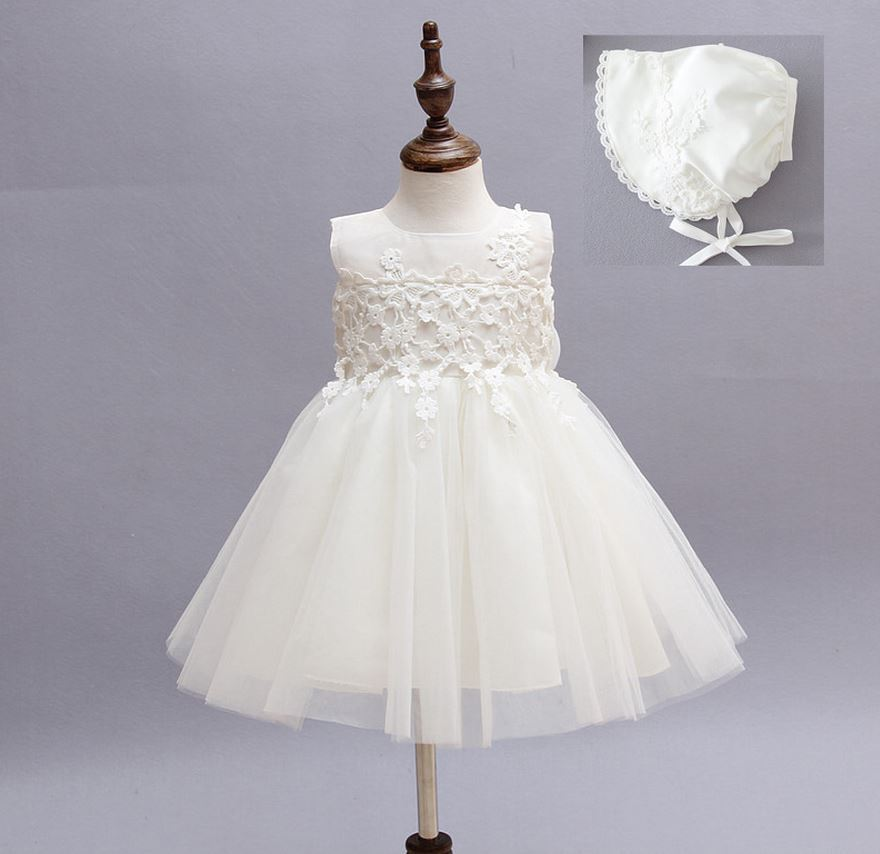 2015 Baby Girl Dress Baptism Dress for Infant Girls Robe Fille Enfant 1 Year Birthday Dress