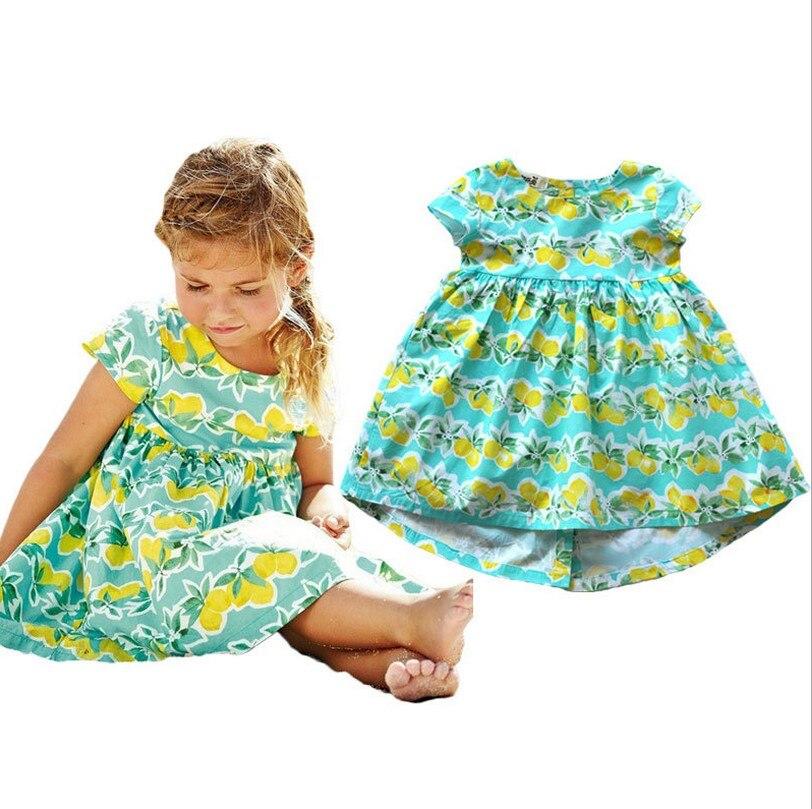 2016แบรนด์แฟชั่นสาวชุดสาวเครื่องแต่งกายเด็กวัยหัดเดินสาวชุดสีเขียวแขนสั้นมะม่วงเด็กชุดทา...