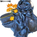 Wearzonw 2017 New Vintage Floral Embroidered Style Silk Linen Lace Scarf Shawls for Women Winter Muslim Hijab Bandana Pashmina