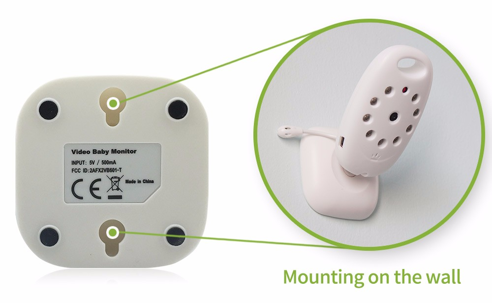 2 inch Wireless Baby Monitor With Two Way Voice Intercom For child Security 14