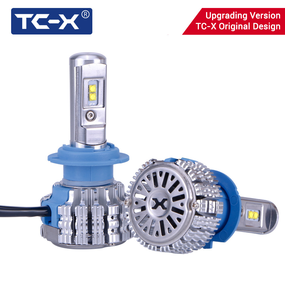 TC-X T1 Pro Led Lamp Light H7 H1 H11 Diode Lamp 9006/HB4 H27/880 H4 LED Car Headlight Driving Passing Beam Ptf Light Replacement