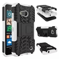 Dual Layer Armor Silicon Kickstand Plastic Skin proctive phone stand Case For Nokia Microsoft Lumia 550 N550 Cover Free ship