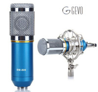 BM 800 Computer Microphone 3 5mm Wired Condenser Sound Microphone With Shock Mount For Recording Braodcasting