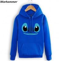 Lilo Stitch Autumn Winter Fleece Hoodie Sweatshirts Stitch Man Womans Warm Cozy Pullover Durable Hoody Cotton