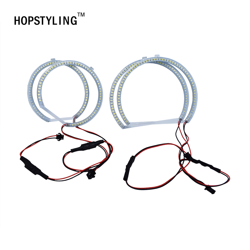 HOPSTYLING 4 Pcs Xenon Putih SMD LED Angel Eyes Halo Rings lampu - Lampu mobil - Foto 4