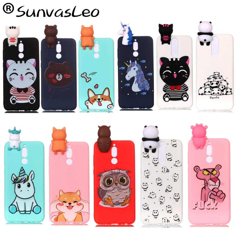 For Huawei Mate 10 Lite Cases 3D Silicone Case Cartoon