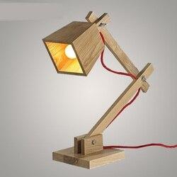 Stół z litego drewna lampa kreatywna lampa biurkowa uczyć się lampka nocna do sypialni stół z litego drewna lampa wisząca ZA MZ60