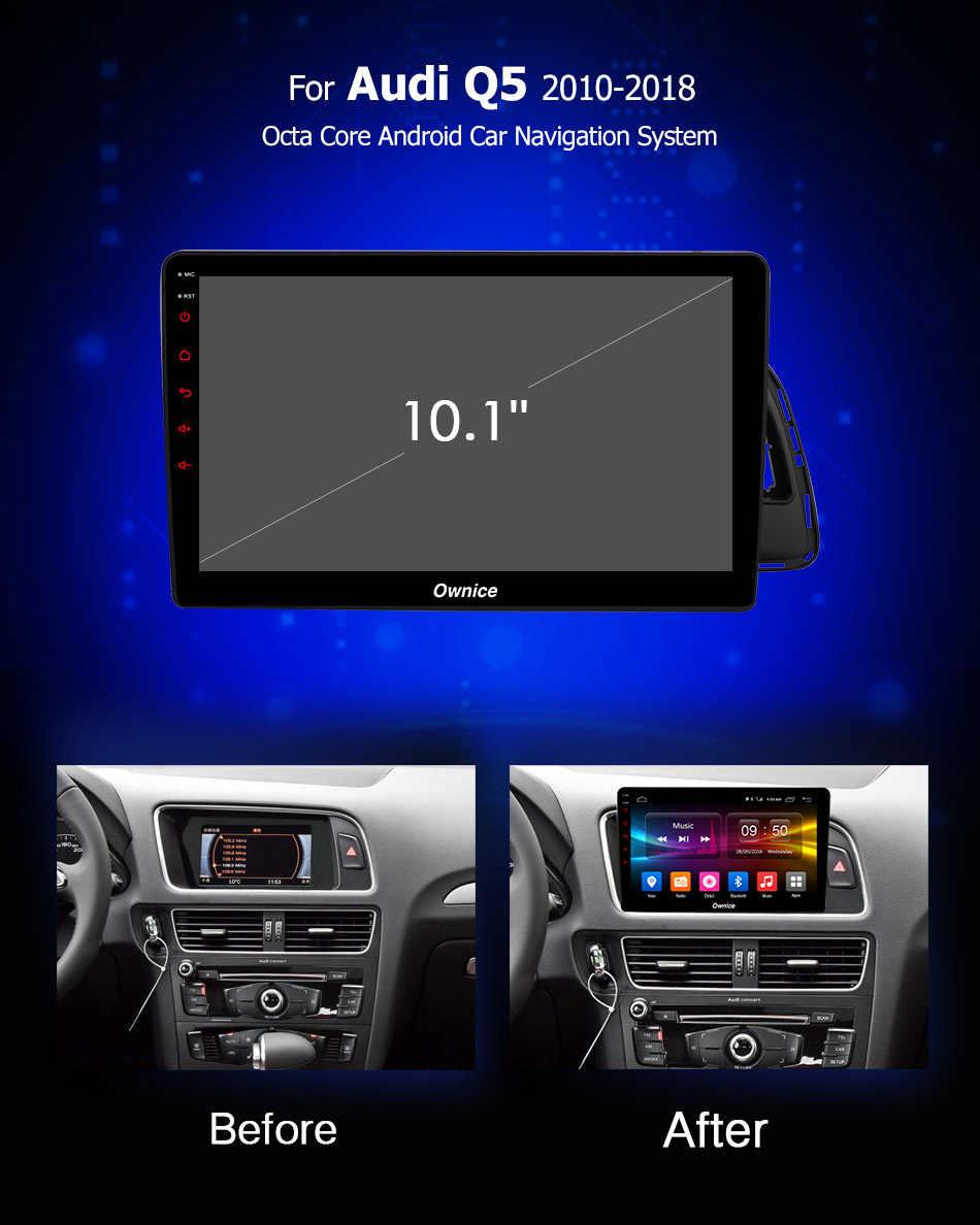 "10.1 ""HD Ownice K1 K2 K3 アンドロイド 9.0 8 コア 2 グラム + 32 3g カー Dvd ラジオプレーヤーアウディ Q5 2010-2018 サポート 4 4G LTE carplay bluetooth"