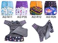 New Arrival Resuable Organic Cloth Diaper Baby Nappy AI2 Cloth Nappies Adjustable Size Double Leaking Gusset With Snap Inserts