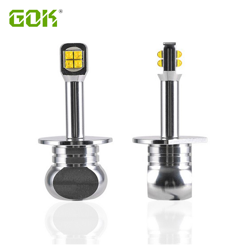 2Pcs H1 H3 LED H7 H4 H11 9005 9006 H1 LED Car Headlight CREE Chip Auto fog lamp 80W Driving DRL Fog Light Automobile Lamp white 1 pair car headlight bulb kit 12v 50w automobile headlamp zes lumileds led chip auto head light fog lamp 9005 9006 h11 h4 h7 h1