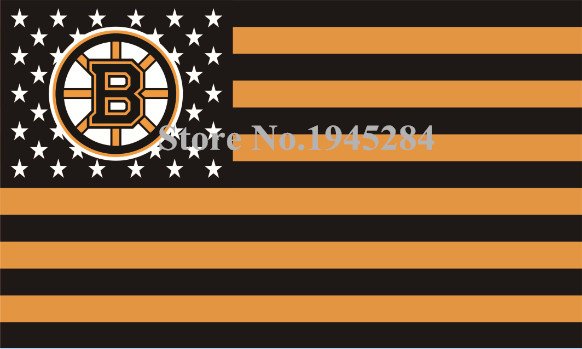 NHL Boston Bruins with US Stars Stripes Flag Banner New 3x5FT 90x150CM Polyester 9441, free shipping ...
