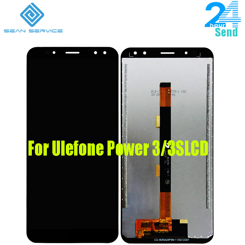 For Original Ulefone Power 3 LCD Display +Touch Screen Digitizer Assembly Replacement Parts 2160*1080P For Ulefone Power 3S 6.0""