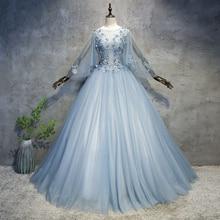 J светло-серый синий бабочка с длинным рукавом бальное средневековое платье Ренессанс платье принцессы костюм викторианская/marie Antoinette