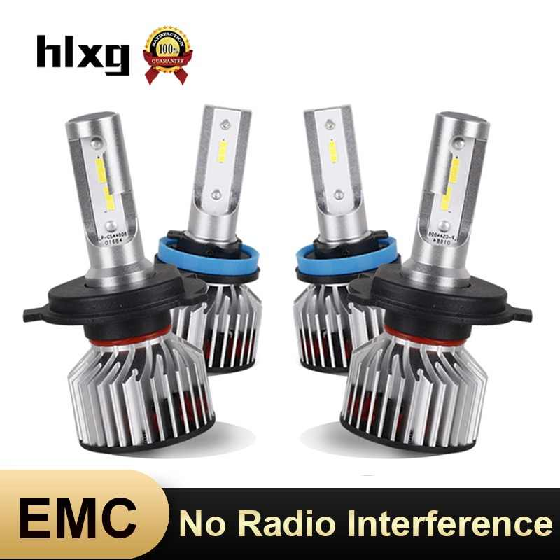 HLXG Car Headlight H1 H11 H4 H7 LED Bulbs 12V Anti-EMC No Radio Interference Light 8000LM 70W 6000K H8 H9 HB3/9005 HB4/9006 Lamp