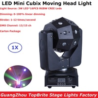 Newest 16X3W RGBW 4IN1 LED Moving Head Lights DMX DJ Disco Party Stage Effect Fixture High