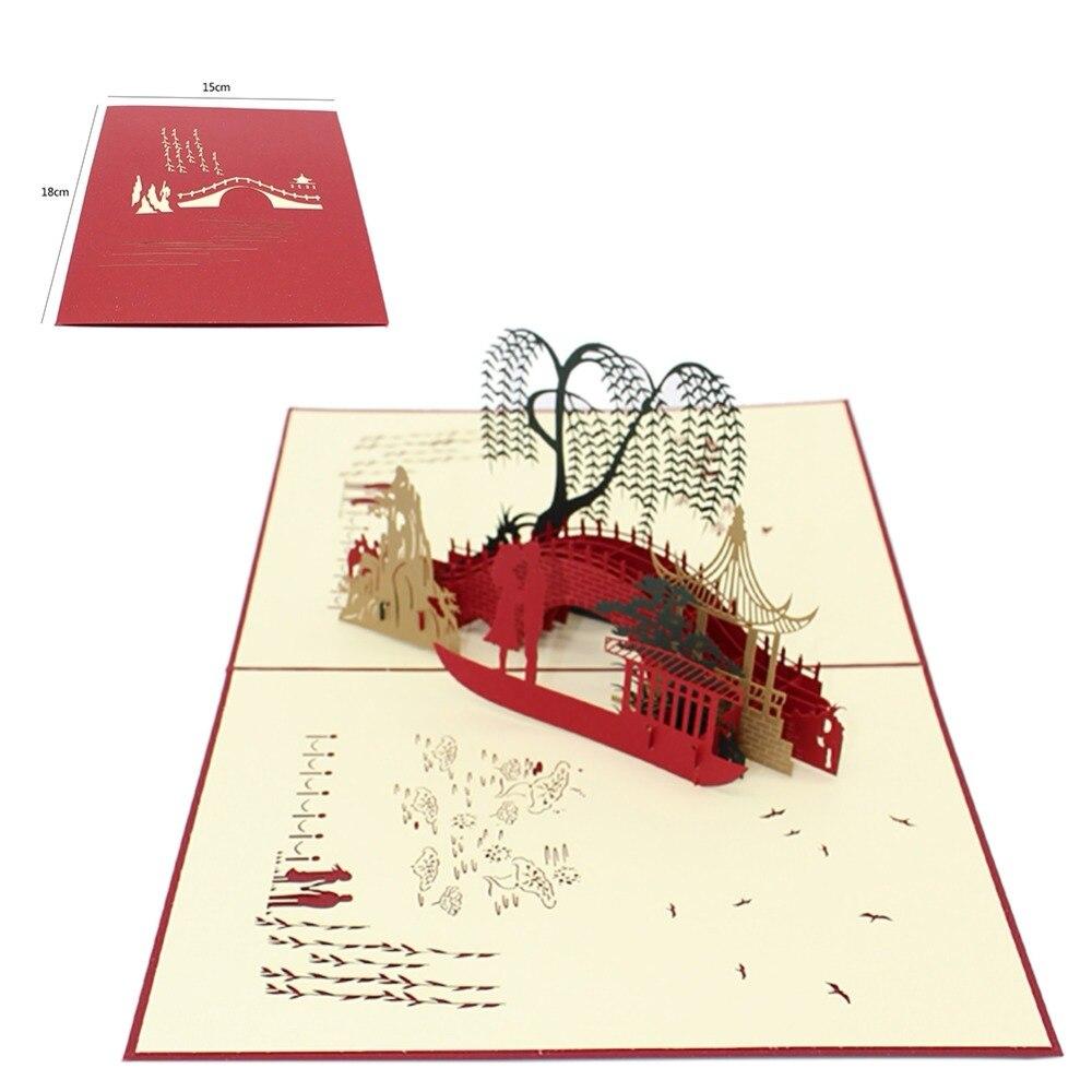 3D Pop Up Cards Wedding Lover laser cut wedding invitations post ...