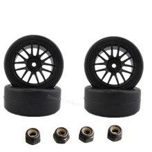 4x26mm Neumáticos de Las Ruedas De Plástico RC Montaje Montaje Hex 12mm Relleno De Espuma Para 1: décimo En piezas de Automóviles por carretera de Juguete