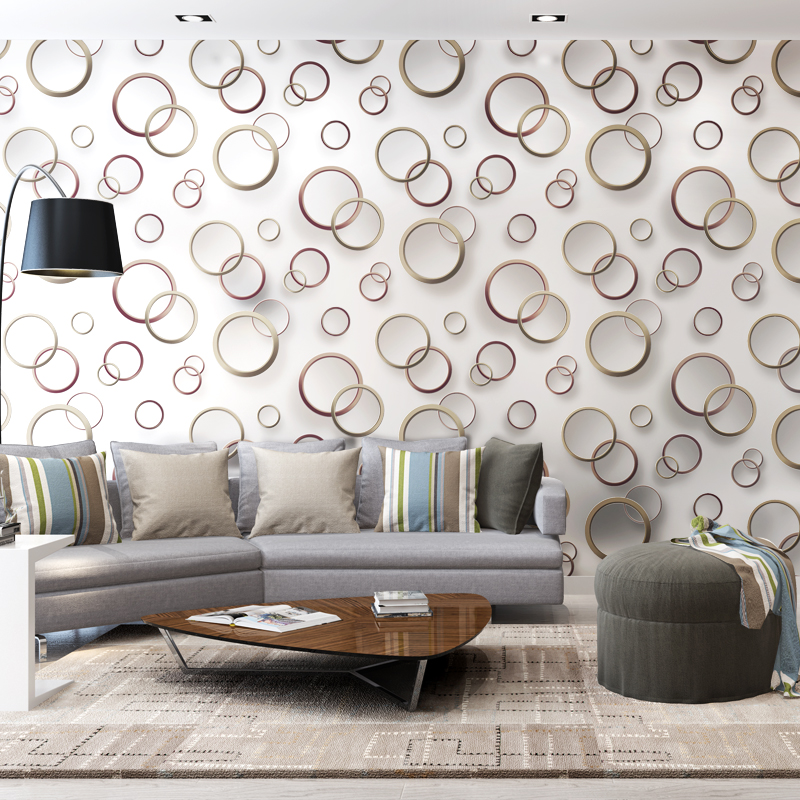 Modern minimalist waterproof pvc 3d lattice wall paper for 3d wallpaper for walls