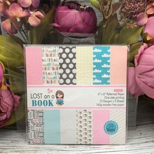 24pcs/Pack 6*6inch 15.2cm Lost on Book Patterned Paper Pack for Scrapbooking DIY Happy Planner Card Making Journal Project