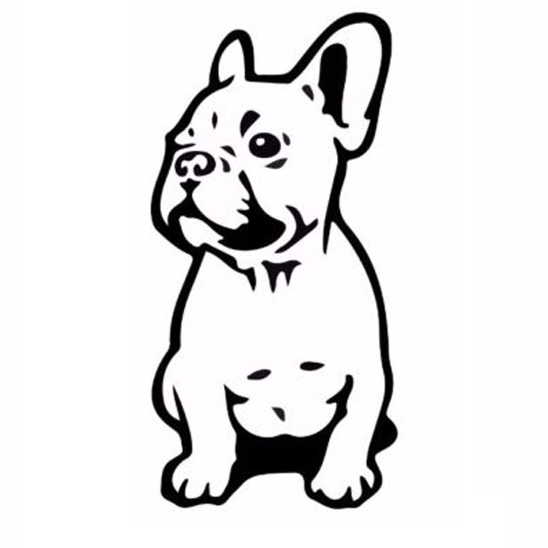 7.5*15.2CM FRENCH BULLDOG Dog Pet Breed Vinyl Decal Funny Animal Car Sticker Black/Silver C6-1350