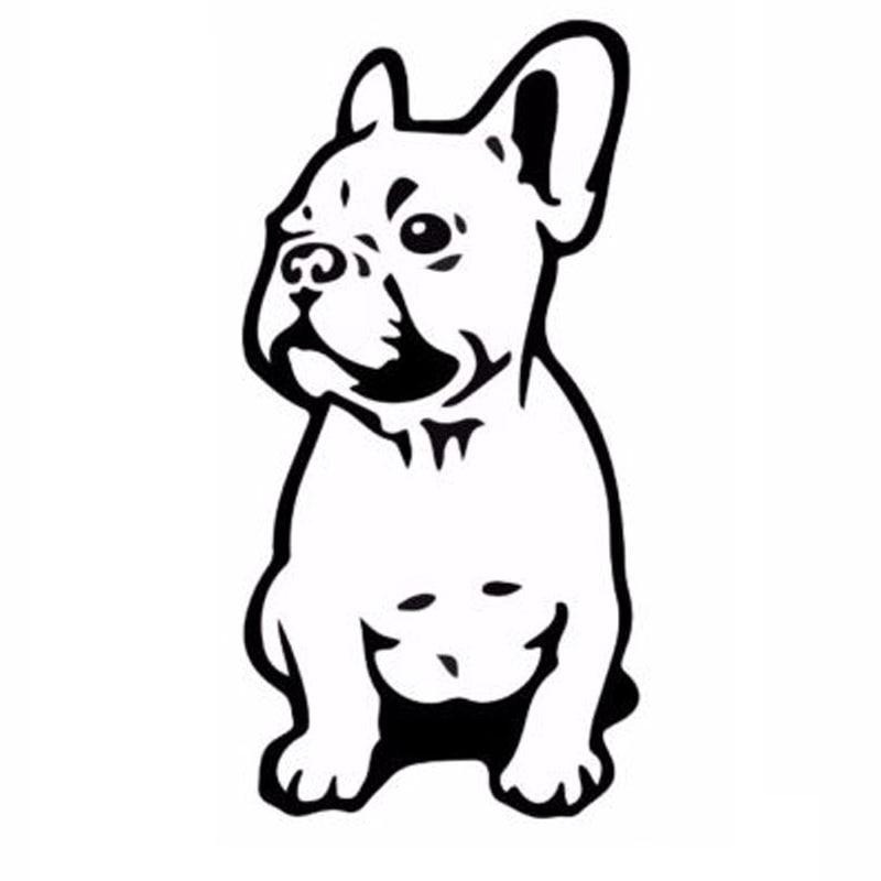 7.5*15.2CM FRENCH BULLDOG Dog Pet Breed Vinyl Decal Funny Animal Car Sticker Black/Silver C6-1350