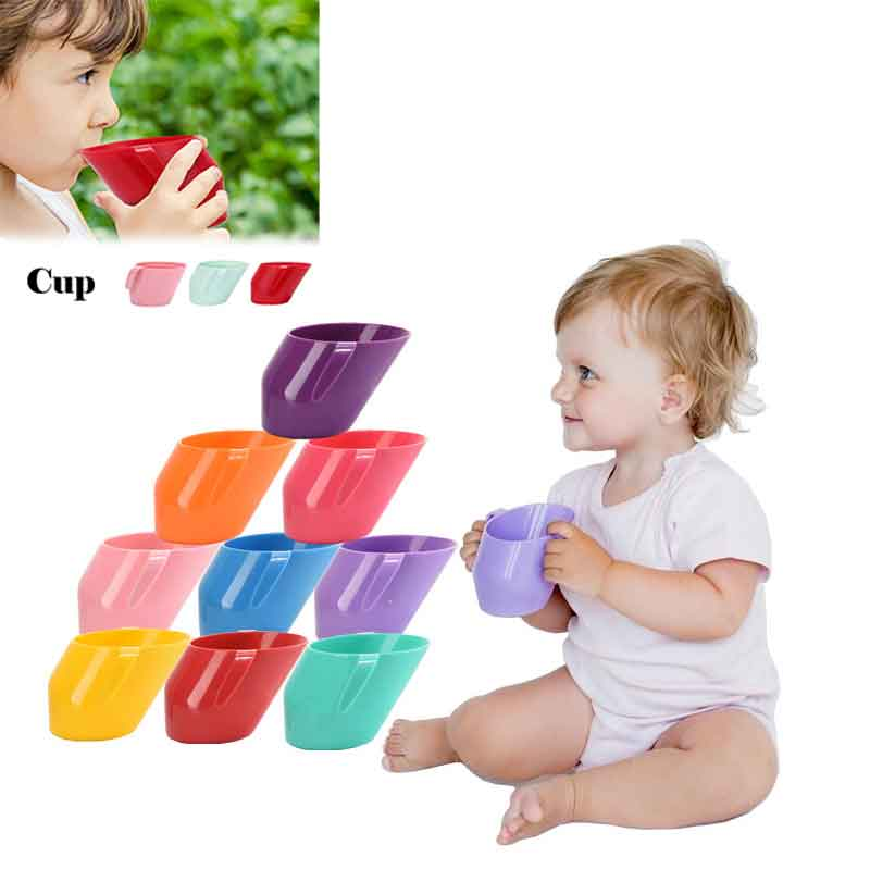 2019 Baby Insulation Oblique Mouth Cup Leakproof Infant Learning Drinking Cups Tumble Resistant Baby Drinking Cups For Baby Kids