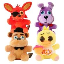 25cm Five Nights at Freddy's FNAF 4 Freddy Bonnie Chica Foxy Stuffed Plush Doll Toy Christmas birthday gift m171