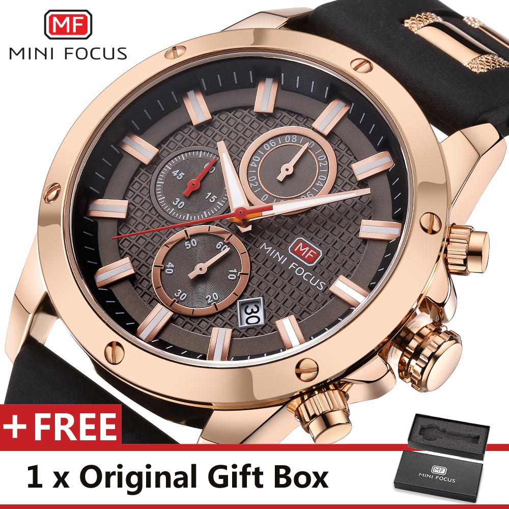 MINI FOCUS Wrist Watch Men Top Brand Luxury Famous Male Clock Quartz Watch Wristwatch Quartz-watch Relogio Masculino MF0089G.01