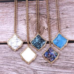 ZWPON известная Марка Desinger Kyrie ожерелье из камня в форме кайта для женщин модное ожерелье из камня в виде раковины KS оптовая продажа