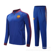 Barcelona Children Football Training Suit Long Sleeved Boys And Girls Football Clothing Suit Kids Football Jersey Sportwear Sets