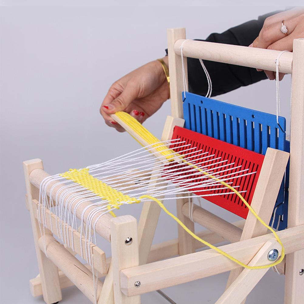 Métier à tisser traditionnel en bois enfants jouet artisanat cadeau éducatif cadre de tissage en bois machine à tricoter