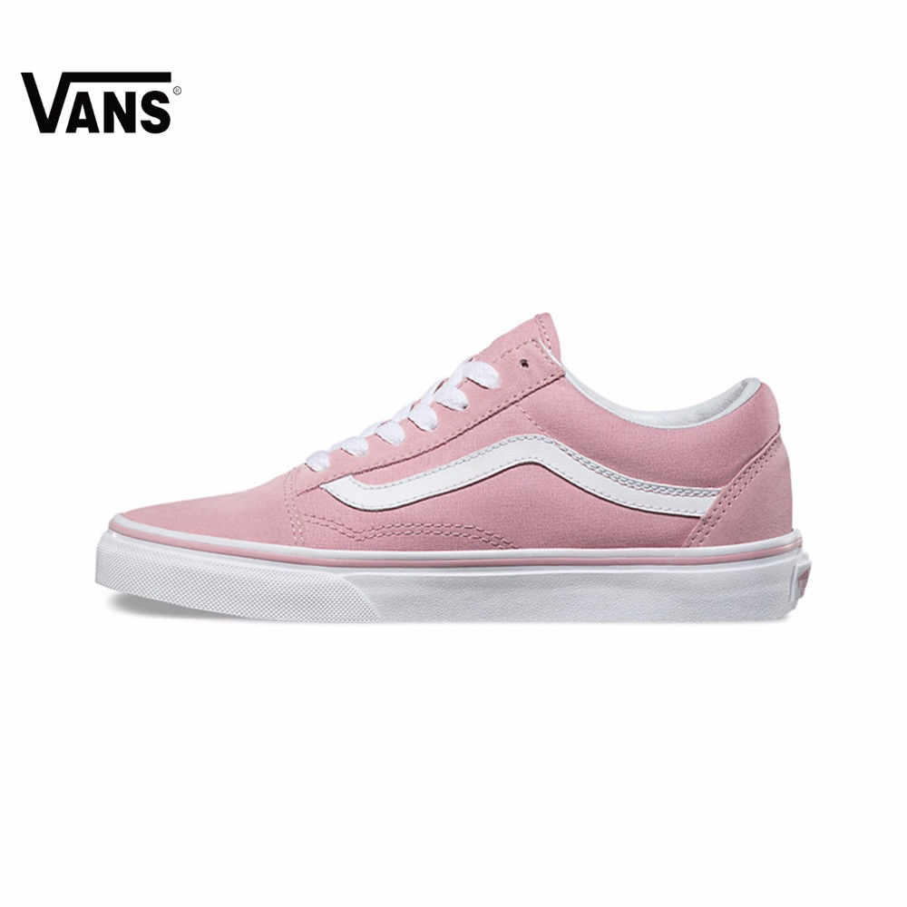 Original Vans Folder OLD SKOOL Pink women Skateboarding Shoes Sport Shoes Sneakers free shipping