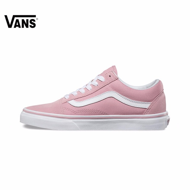 Original Vans Folder OLD SKOOL Pink women Skateboarding Shoes Sport Shoes  Sneakers free shipping 3e5a63a6a