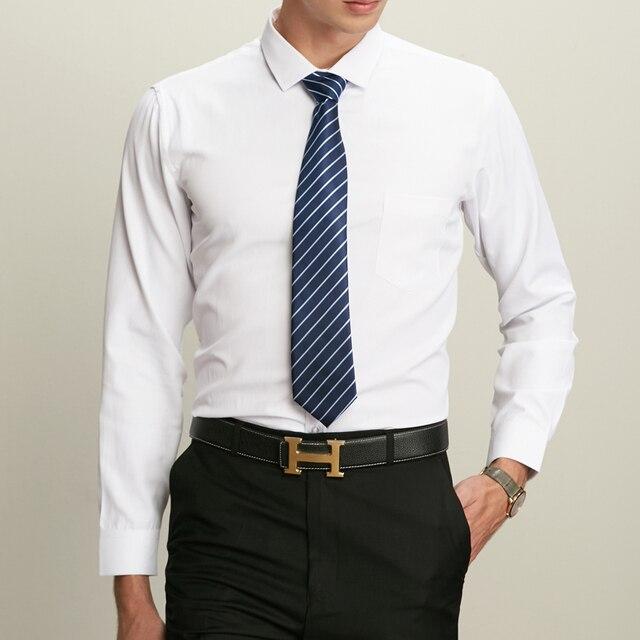 41dff1c7ad465 Winter Warm Men Dress Shirts White Black social mens Slim Fit Male Shirt  Solid Color Long Sleeve Cotton Men s Casual Shirt thick