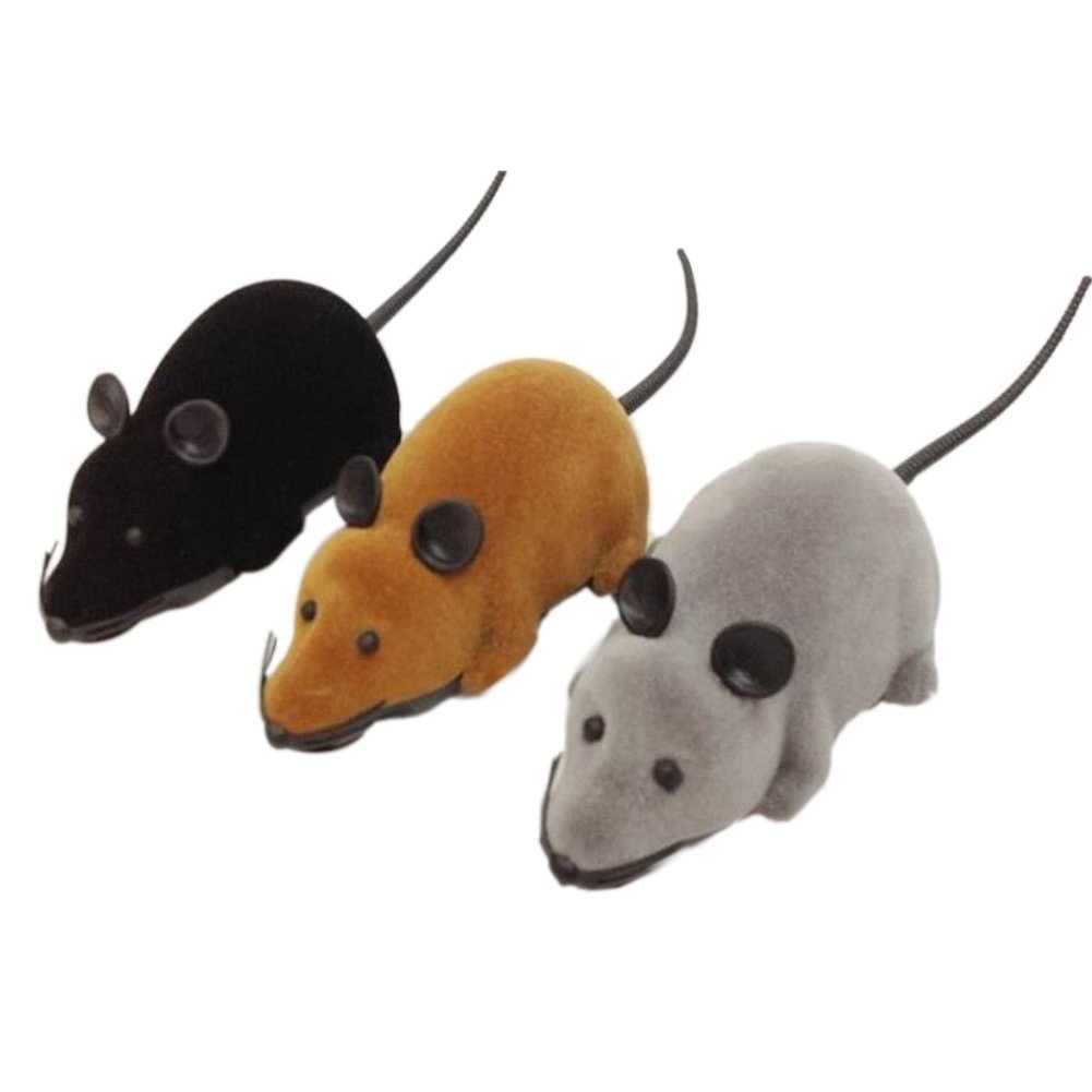 KEOL Best Sale New Remote Control RC Rat For Cat Dog Pet Toy Novelty Gift for kids child ...