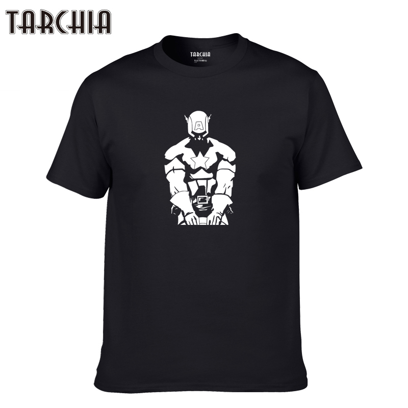 TARCHIA 2019 new Captain America t-shirt cotton tops tee funny men brand short sleeve boy casual fashion homme tshirt t plus