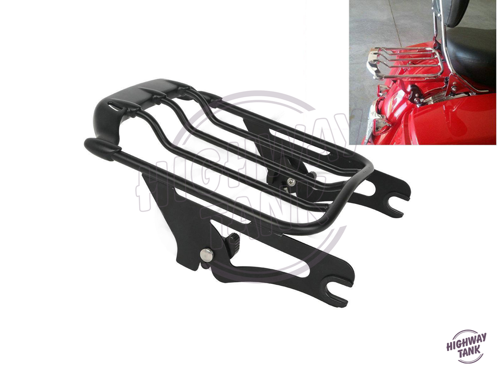 Motorcycle Detachable 2-UP Air Wing Luggage Rack Moto Rear decoration case for Harley Touring Street Glide FLHX 2009-2016