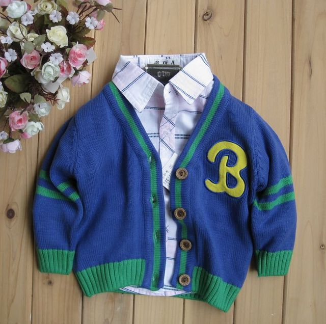 Baby boy sweater male child cotton thread clothing sweater cardigan male baby clothes 2012 autumn children's clothing
